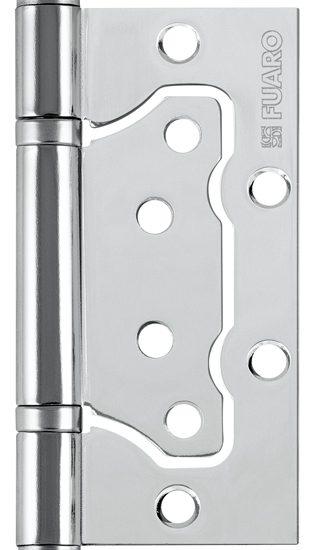 Петля универсал.без врезки 500-2BB/BL 100x2,5 CP(хром)БЛИСТЕР