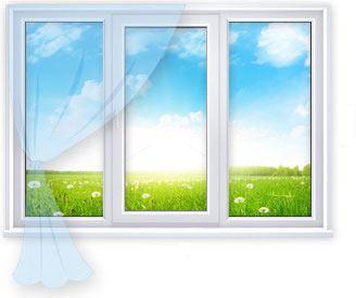 Трёхстворчатое окно BRUSBOX